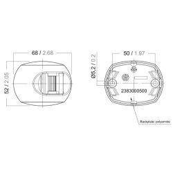 Series 33 LED Navigation Light - Diagram