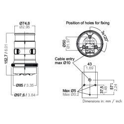 Measurements of Aqua Signal Series 34 Masthead Navigation Light