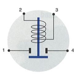 Diagram of Cole Hersee Cole Hersee 24V, 85A Continuous Duty Solenoid