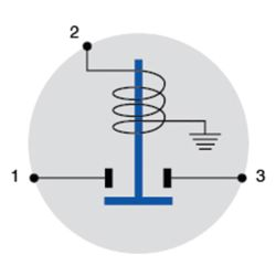 Diagram of Cole Hersee Intermittent Duty Solenoid with Steel Housing - 12V, 100A Int.