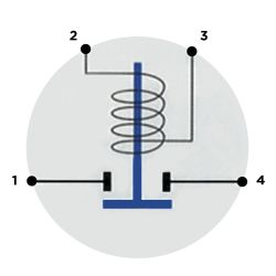 Diagram of Cole Hersee Standard Solenoid - 36V, 85A Continuous Duty