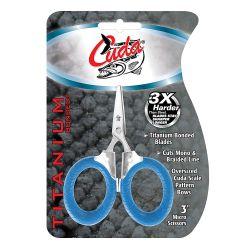 """in package of Cuda 3"""" Titanium Bonded Micro Scissors"""
