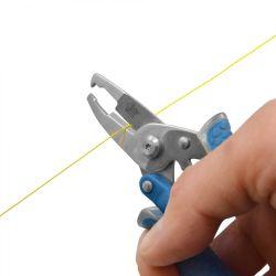 """cutting of Cuda 5"""" Titanium Bonded Mini Plier"""