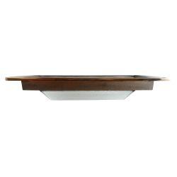 "side view of Davey & Co. Deep Frame Rectangular Deck Prism Light - 5-3/4"" x 12-1/4"" Overall"