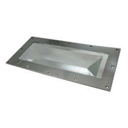 """2411-ss-312 of Davey & Co. Rabetted Stainless Steel Rectangular Deck Prism - 6-1/2"""" x 14-1/2"""" Overall"""