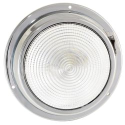 "Dr LED 5-1/2"" Chromed Mars LED General Purpose Dome Light - Red / White"