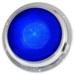 "Dr LED 6-3/4"" Chromed Mars LED General Purpose Dome Light - Blue / Warm White"