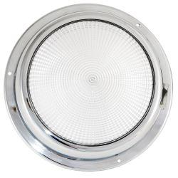 """Dr LED 6-3/4"""" Chromed Mars LED General Purpose Dome Light - Red / Warm White"""