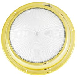 "Dr LED 6-3/4"" Brass Mars LED General Purpose Dome Light - White/Red"