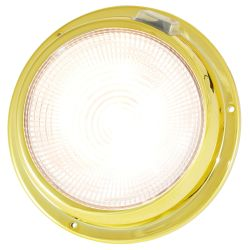 "Dr LED 5-1/2"" Brass Mars LED General Purpose Dome Light - Warm White/Red"