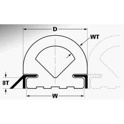 "4-1/4"" Wide 500 Ser Duramax DB504 Fan Nose Commercial Dock or Vessel Bumper"