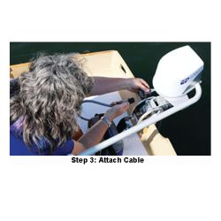 step three of EP Carry Electric Motor EP Carry Electric Outboard - Standard Shaft
