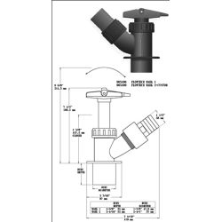 Dimensions of Forespar Flowtech Full Flow Performance Seacock Valve Mk I - OEM