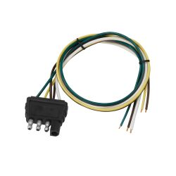4-Way Flat Trailer End Wire Harness - Wishbone Style