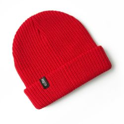 Red View of Gill Floating Knit Beanie