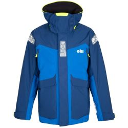 Blue Front View of Gill Men's OS24 Offshore Jacket