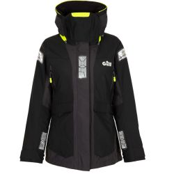 Black Front View of Gill Women's OS24 Offshore Jacket