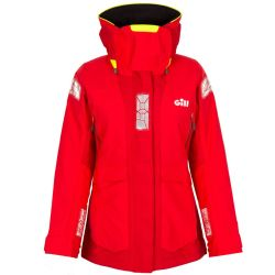 Red Front View of Gill Women's OS24 Offshore Jacket