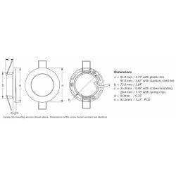 "Hella 3-3/4"" Warm White EuroLED 95 LED Recess Down Light - White Bezel, Screw Mnt"