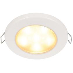 "Hella 3-3/4"" Warm White EuroLED 95 LED Recessed Down Light - White Bezel, Clip"
