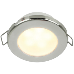 """Hella 3"""" EuroLED 75 Recessed Mount LED Down Light - Warm White, Stainless Steel Bezel"""