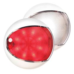 "Hella 5"" EuroLED 130 Touch Dome Light - White Shroud, Red or White Light"