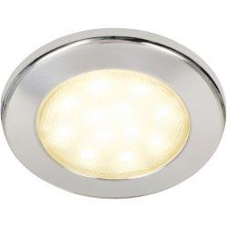 "Hella 4-1/2"" Warm White EuroLED 115 LED Recessed Down Light - SS Bezel, Screw Mnt"