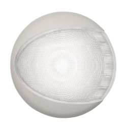 "Hella 5"" EuroLED 130 Surface Mount LED Dome Light - Cool White with White Shroud"