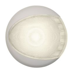 "5"" EuroLED 130 Surface Mount LED Dome Light - Warm White with White Shroud"