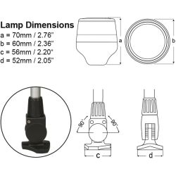Diagram of NaviLED 360 All Round Fold Down Pole Navigation Lamp