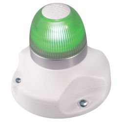 Hella NaviLED 360 - All-Round Navigation Light - Green, White Base