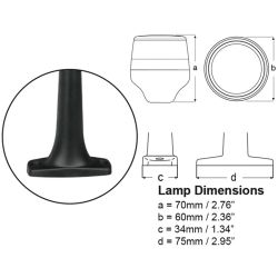 Diagram of NaviLED 360 Compact All Round White Pole Navigation Lamp