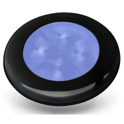 "Slim Line LED Round 3"" Lamps - Blue Light, Black Trim"