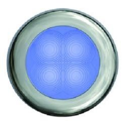 "Slim Line LED Round 3"" Lamps - Blue Light, Chrome Trim"