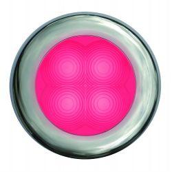 "Slim Line LED Round 3"" Lamps - Red Light, Chrome Trim"