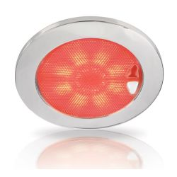 Red Showing on Hella Warm White / Red Recessed EuroLED Touch Lamp