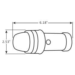 Dimensions of Innovative Lighting Incandescent Battery Operated Bi-Color Navigation Light