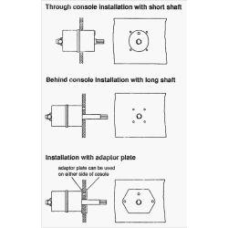 Helm Pump Mounting Options of Kobelt 7004 Fixed Displacement Hydraulic Steering Helm Pump - 4.5 cu in /Turn