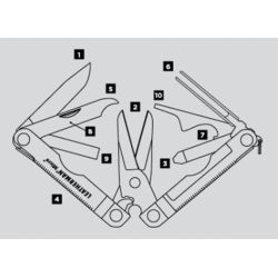 Diagram of Leatherman Micra Multi-Tool - Stainless Steel