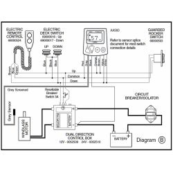 0052509 & 510 Wiring Diagram of Lewmar Windlass Contactor / Solenoids in Sealed Box - Dual Direction