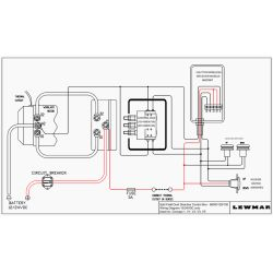 68000129 and 68000130 Wiring Diagram of Lewmar Windlass Contactor / Solenoids in Sealed Box - Dual Direction