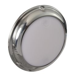 "Lumitec 6-3/4"" TouchDome LED Dome Light - White / Blue"