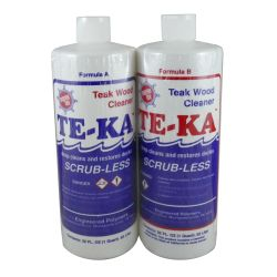 2 quart kit of Marine Tex Te-Ka Scrub-Less Teak Cleaner Kits