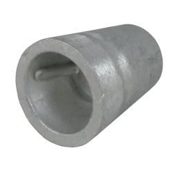 side of Martyr Beneteau Aluminum Anode