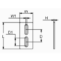diagram of Martyr Driver's Dream Slotted Bolt-On Plate Anode - Aluminum