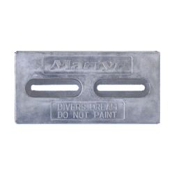 front view of Martyr Driver's Dream Slotted Bolt-On Plate Anode - Aluminum