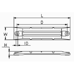 "diagram of Martyr CM-06411ZW1 Honda 9"" Large Bar Anode - Zinc"