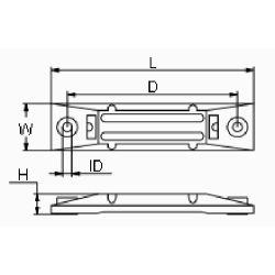 "diagram of Martyr CM06411ZV5 Honda 6"" Small Bar Anode - Zinc"