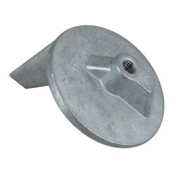 bottom view of Martyr Mercruiser Inboard/Outboard Anodes - Zinc - Cutdown Racing Skeg