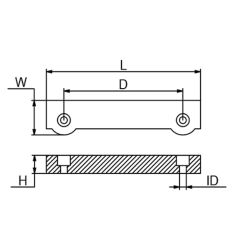 Dimensions of Martyr Volvo Penta 250-285 Series Dual Prop Outdrive Dogbone Anode - Zinc